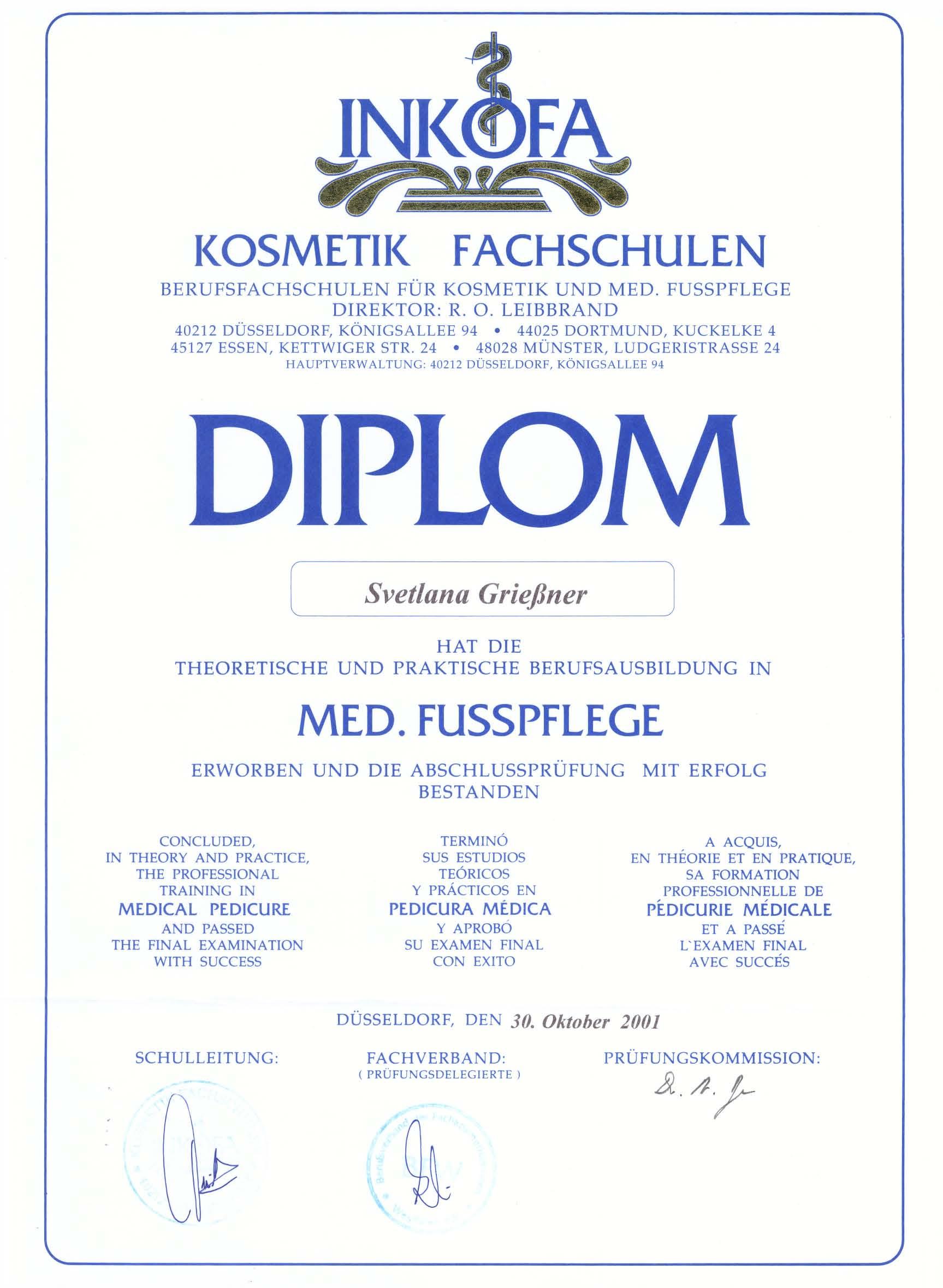 INKOFA Diplom